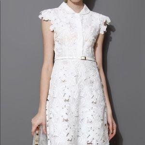 Chicwish white flower dress